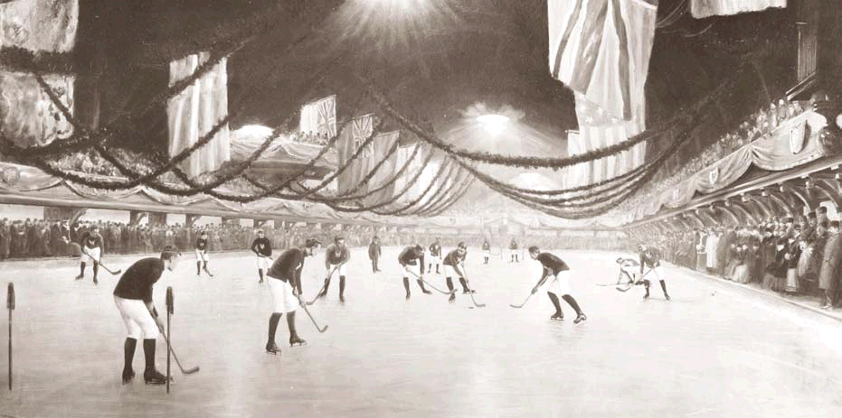 1893 game at Victoria Skating Rink in Montreal (Photo:  McCord Museum )