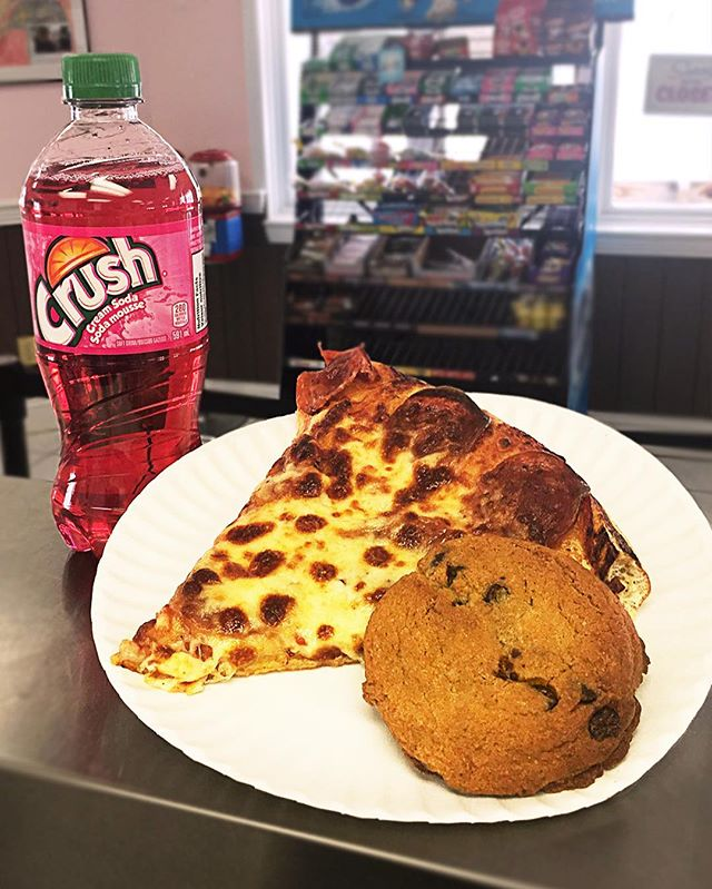 Happy March Break! Join us for this special Kids Combo - a slice of pepperoni pizza, a pop, and a cookie.