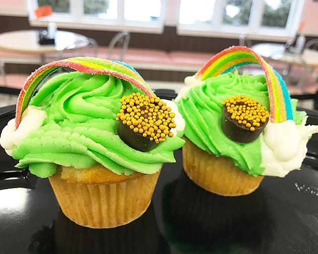 Try our St. Patty's Day cupcakes! Available until Sunday.