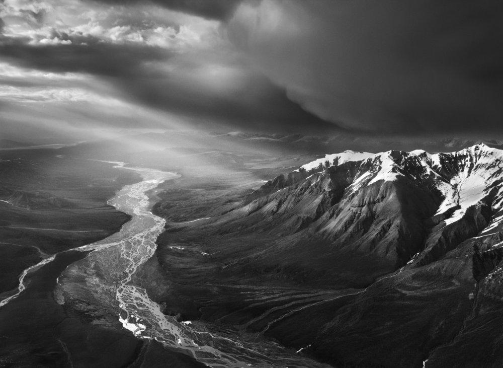 Photo Credit: Sebastião Salgado, St. Clare Creek, black and white photograph, 2011, © Sebastião Salgado/Amazonas images, 2011.