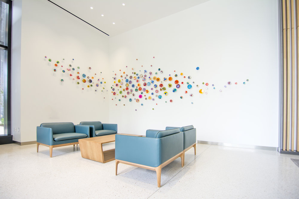 East lobby: Hypo 180 | Epoxy polymer within Petri dishes