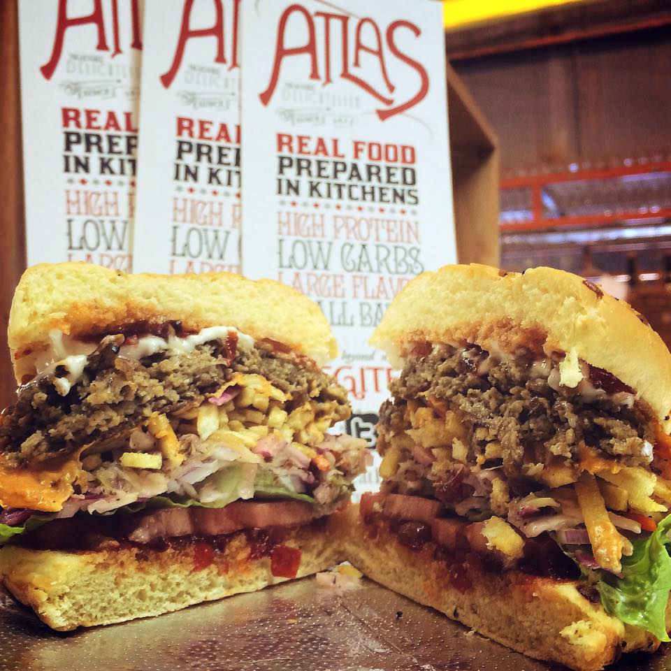 Atlas's gourmet burgers