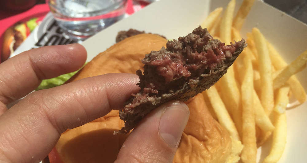 How did they make meat from plants?? (Photo: Maxine Builder/ Extra Crispy)