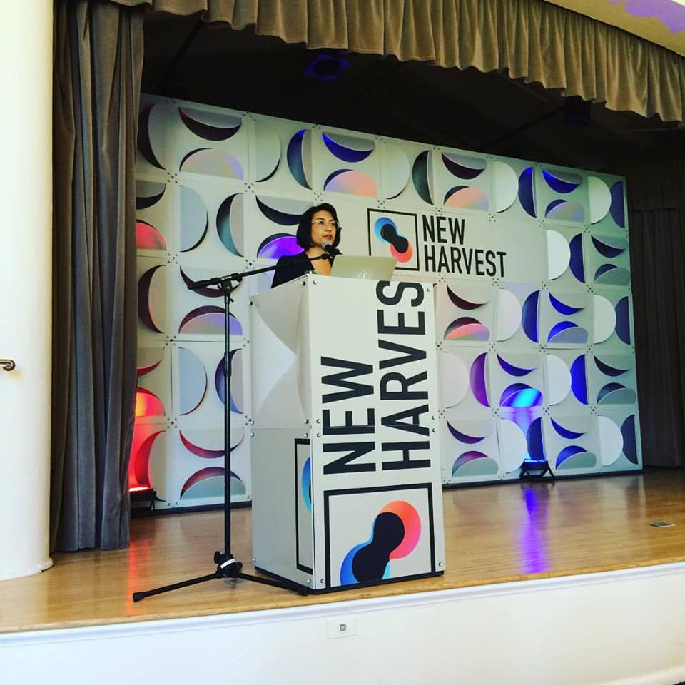 New Harvest CEO Isha Datar on the New Harvest 2016 stage