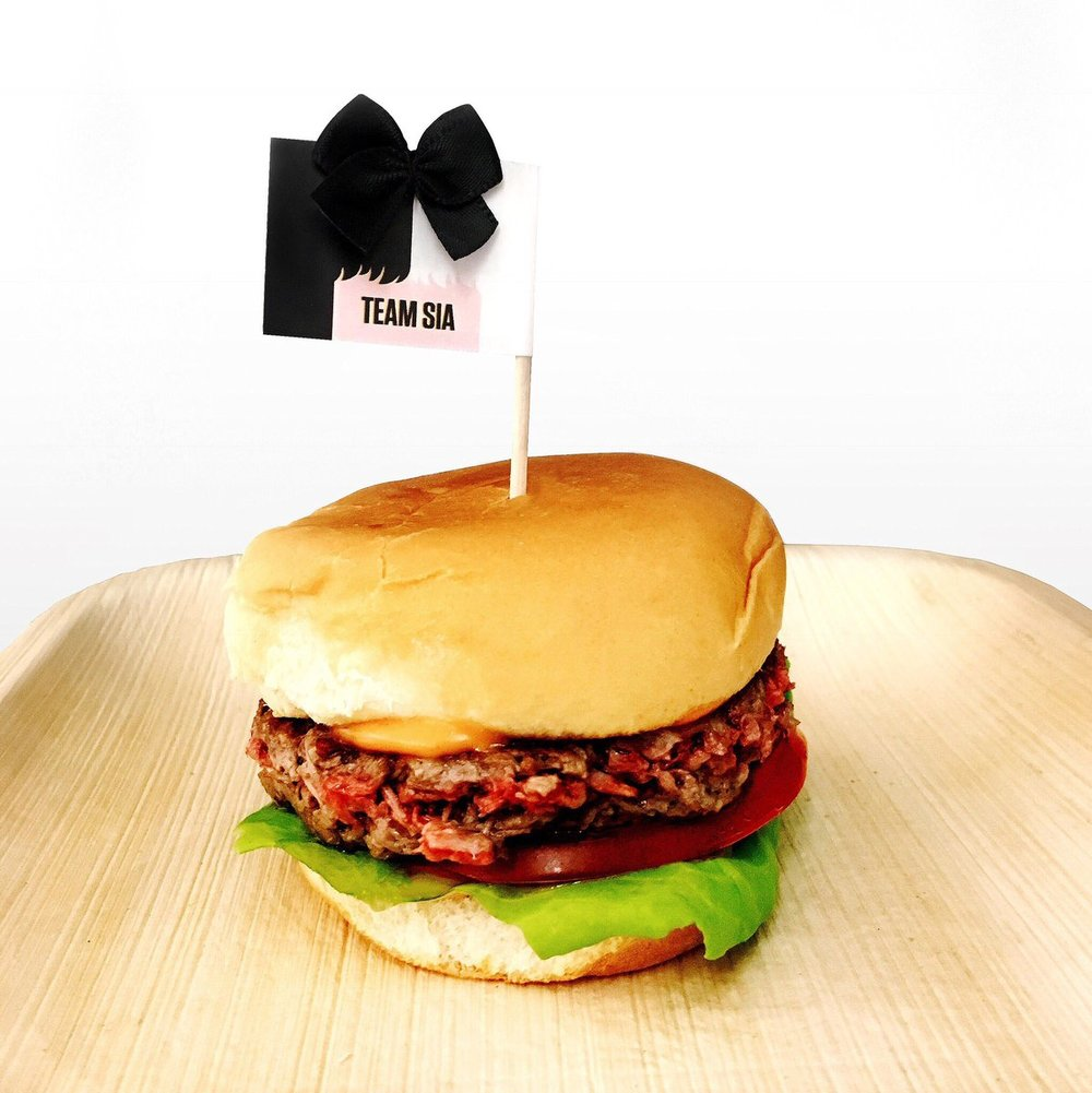 Endorsement in signature Sia style. Photo:  Impossible Foods
