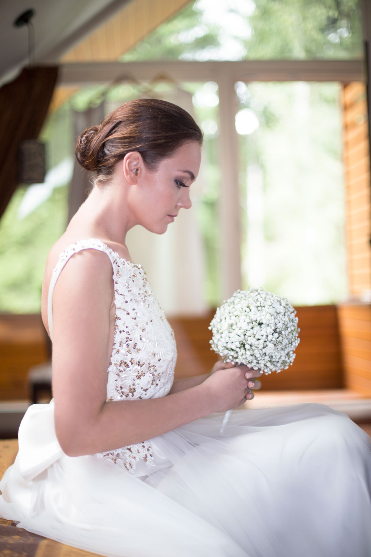 Greta in her wedding dress.Photo by IRMA ADOMAITIENE