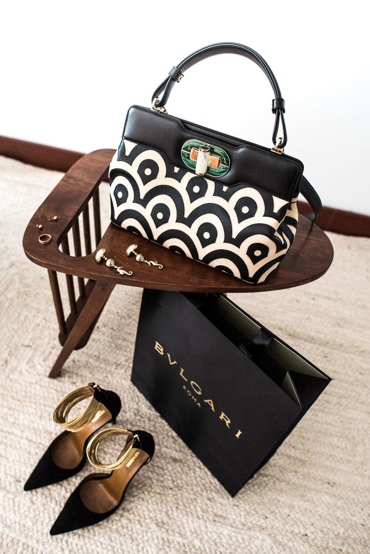 Isabella Rossellini bag by Bvlgari
