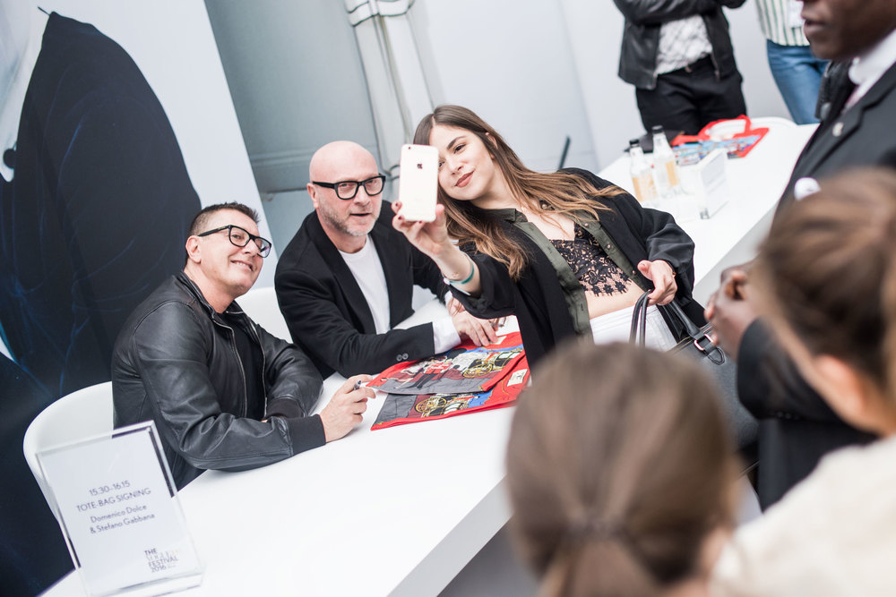 Domenico Dolce and Stefano Gabbana at Vogue Festival 2016