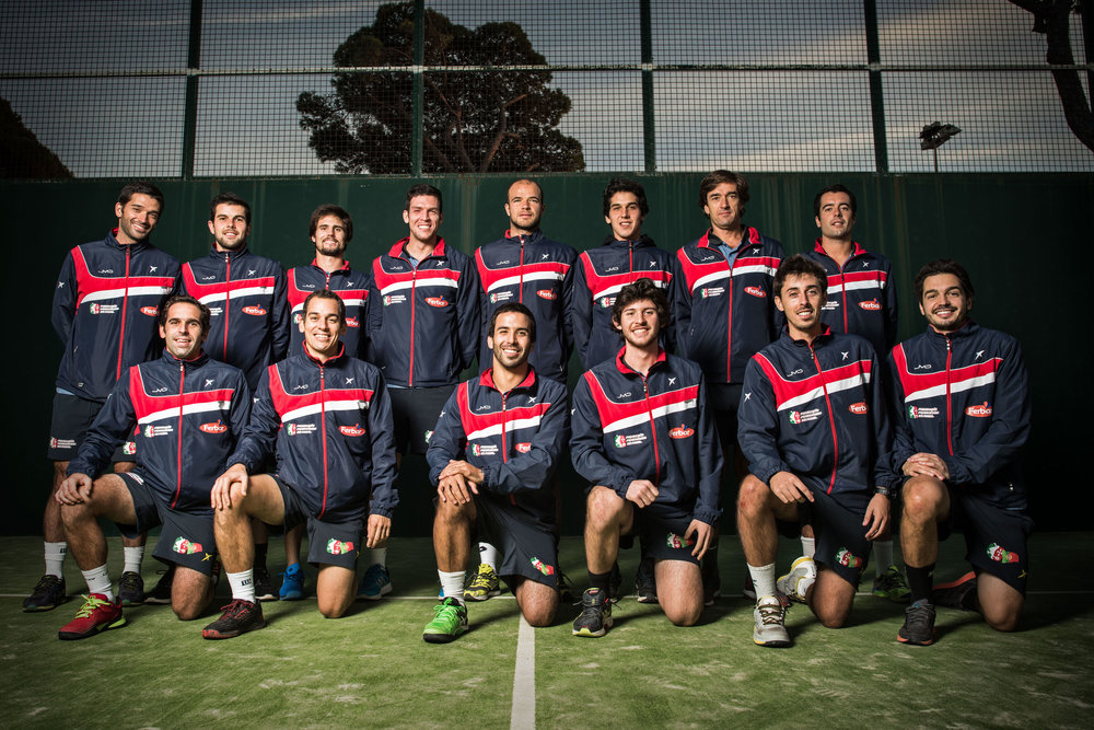Portuguese Padel Tennis team. Photography by ieva studio