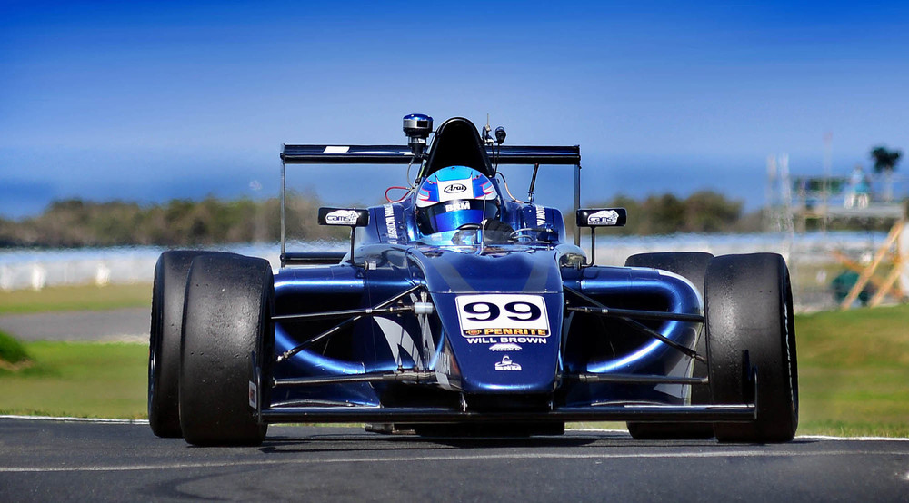 Cars Galore Team BRM driver Will Brown wins in the F4 race at Phillip Island - pic: PLM