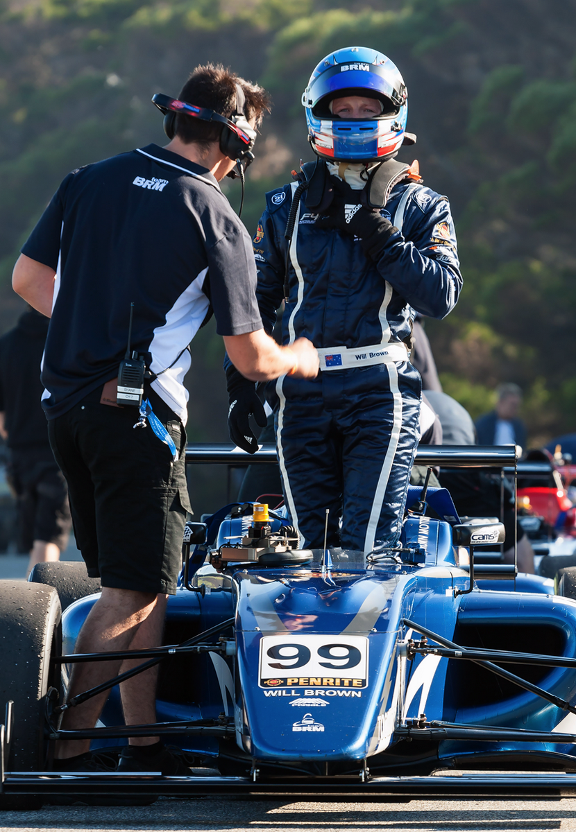 Will Brown is seen in his BRM Formula 4