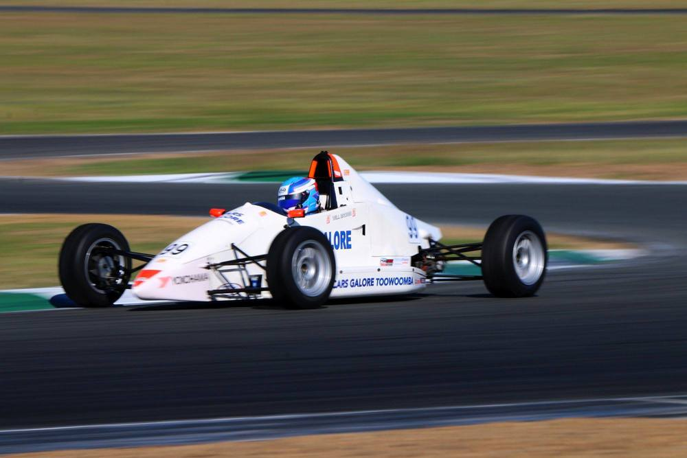 Will Brown is seen winning Race 2 in his Australian Formula Ford car at Ipswich. PICTURE: Formula Ford/Mark Walker