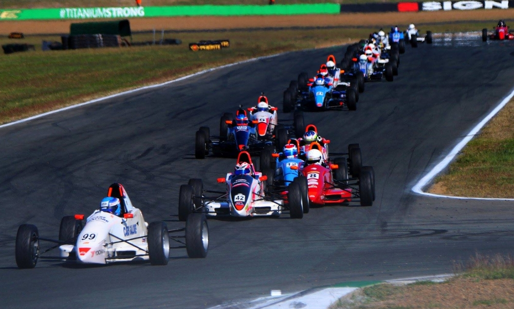 Will Brown is seen out in front of the field in the Australian Formula Ford round at Ipswich PIC: Mark Walker/ Formula Ford