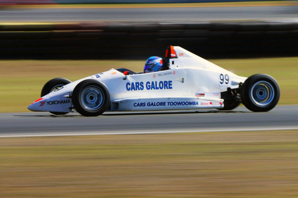 Will Brown is seen in his Formula Ford