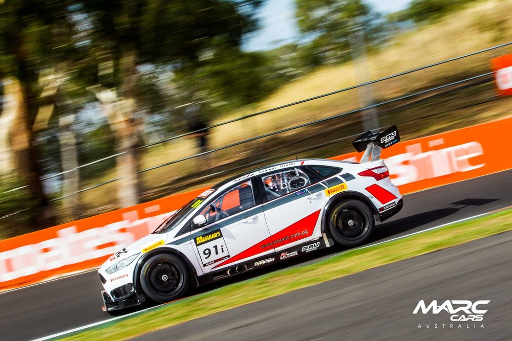 Will Brown is seen competing in the 2017 Liqui Moly Bathurst 12 HR