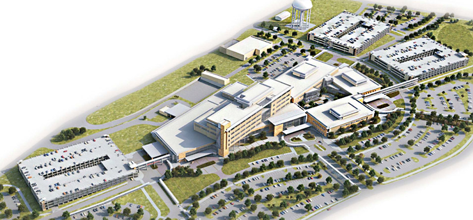 Aerial view of the new Ft. Hood Hospital complex