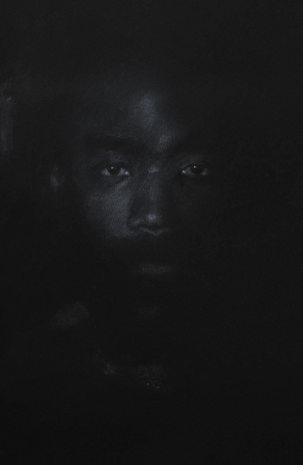 Gambino, chalk on cotton paper, 20x12