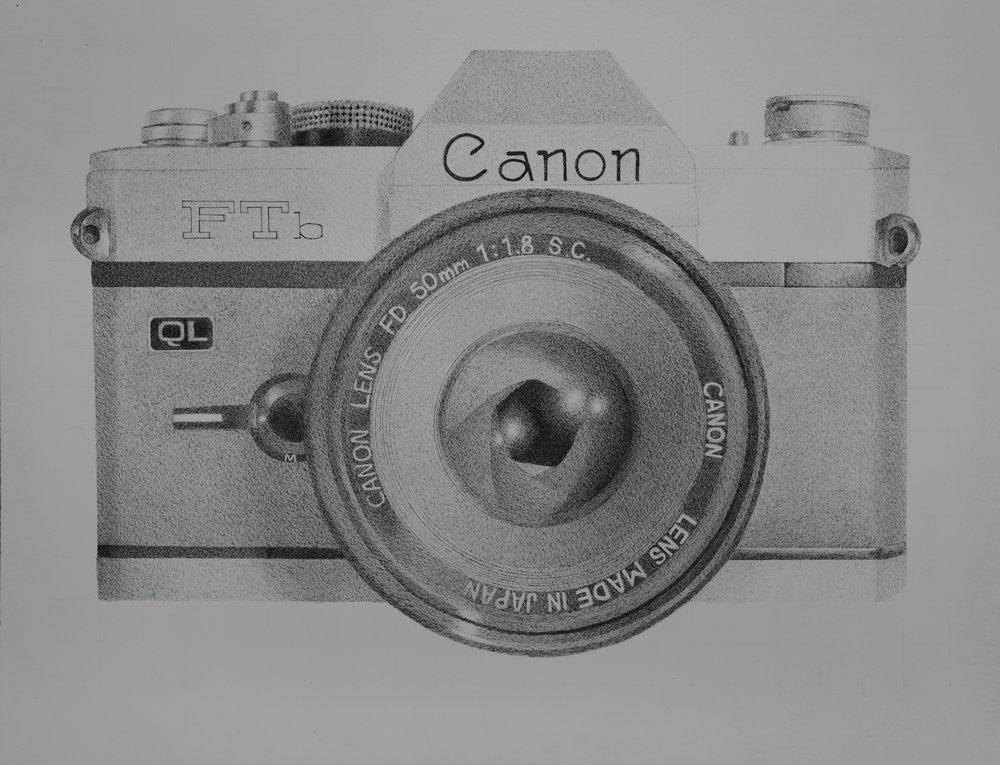 Canon, pen on paper, 20x24
