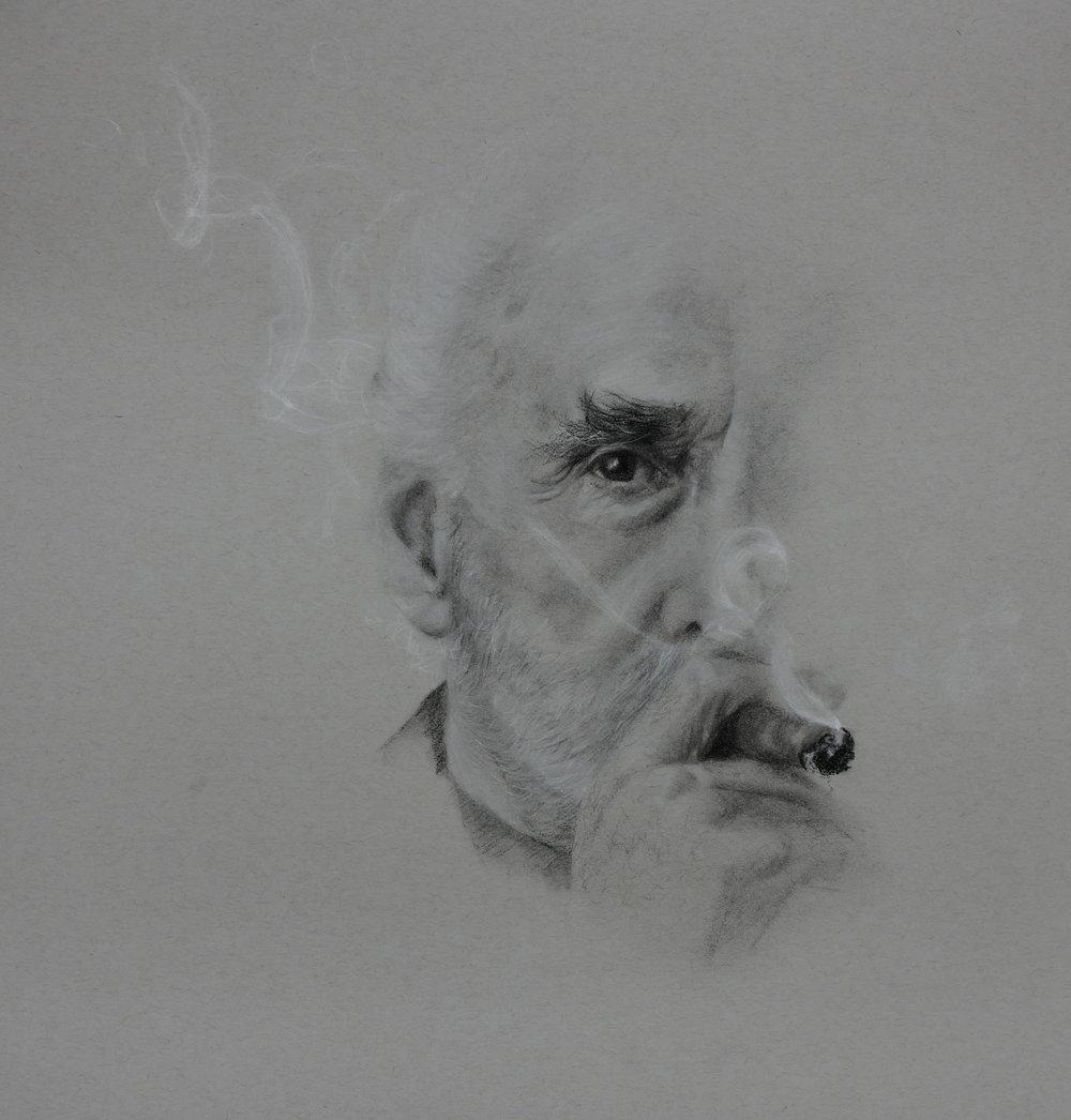 Lee, charcoal, 12x9