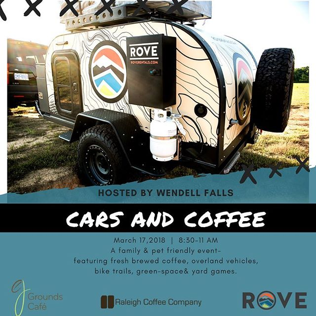This Saturday!! Fun stuff happening at Wendell Falls and Grounds Cafe! #carsandcoffee