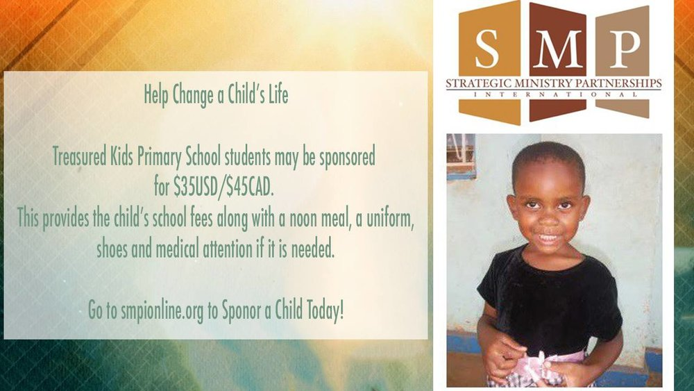 Sponsor a Child - What a great opportunity to care for the poor! Sponsorships provide school fees, a noon meal, a uniform, shoes and medical attention. Education provides opportunity for children in the slums of Uganda to hope for a better life and bring transformation to their country. For more info click here.