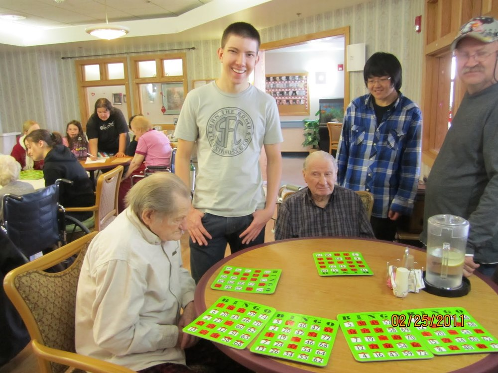 volunteer at nursing homes