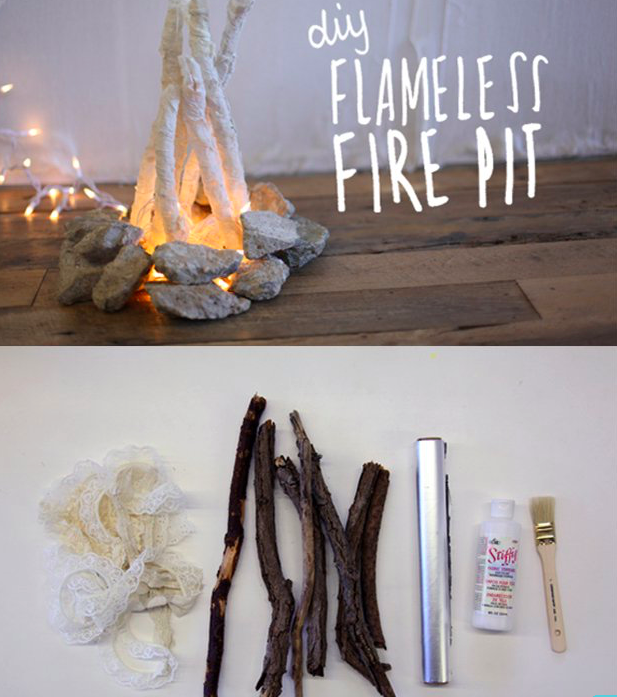 DIY Flameless Fire Pit, http://blog.freepeople.com/2012/11/diy-flameless-fire-pit/