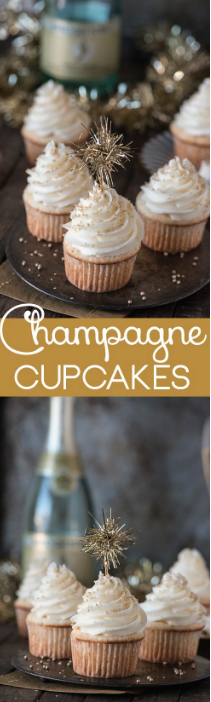 Credit: http://thefirstyearblog.com/easy-champagne-cupcakes/