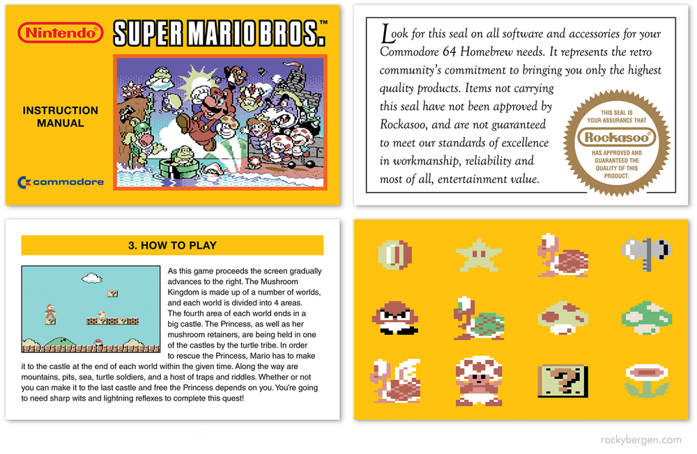 c 64 super mario bros demakes rocky bergen rh rockybergen com super mario bros 3 nes instruction manual Super Mario World Booklet