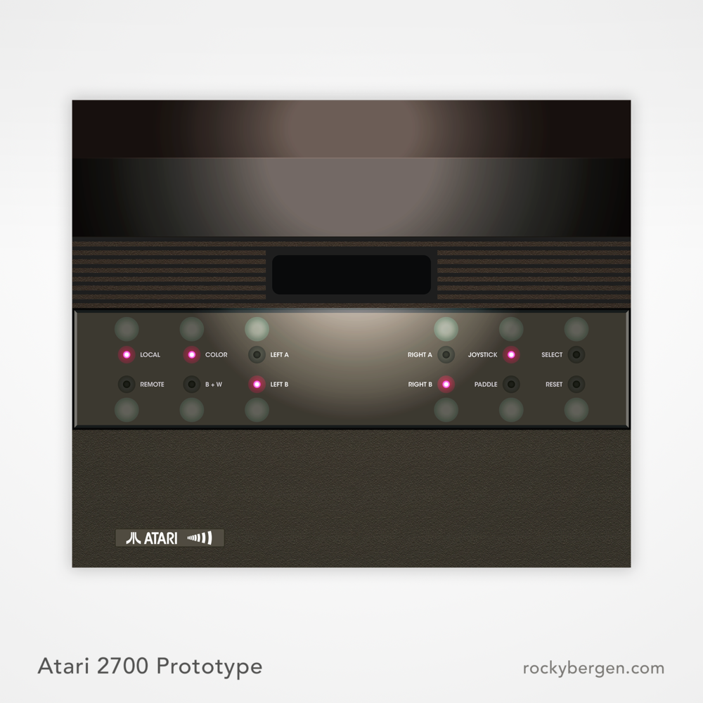 The Atari 2700 was was intended to be a 1981 follow-up to the famous Atari 2600 and would feature wireless controllers. At least 12 of these units are rumored to be in existence.