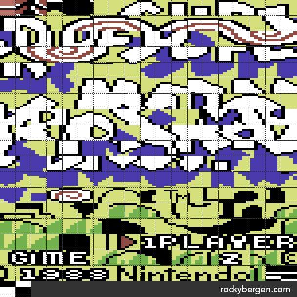 Super Mario Bros. 3 - C64 Title Tileset