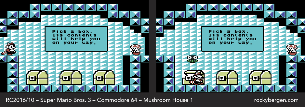Only basic power-ups are available in Mushroom House 1.