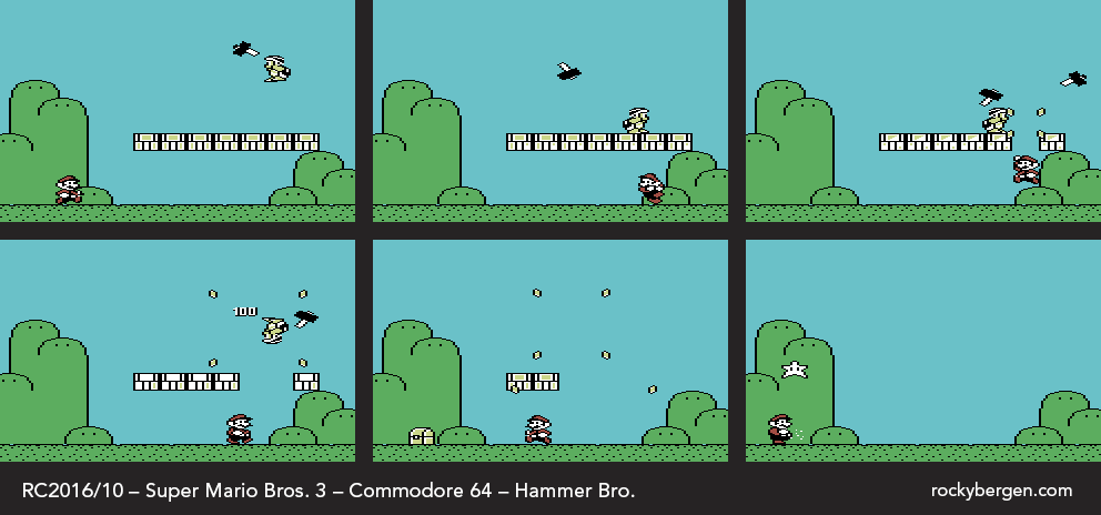 Mario defeats the the Hammer Bro to receive a Star.