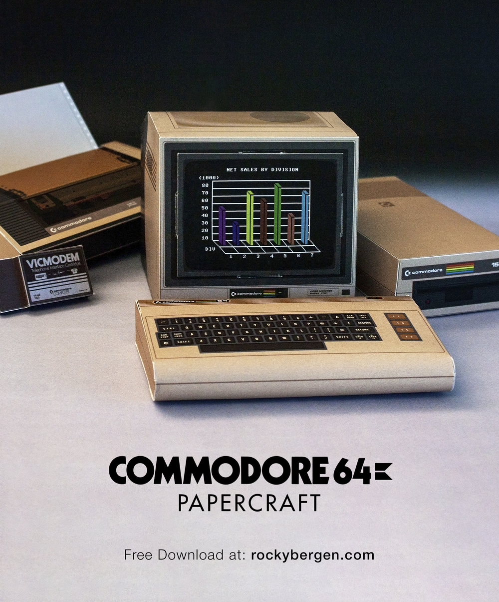 Commodore 64 Papercraft V3 — Rocky Bergen