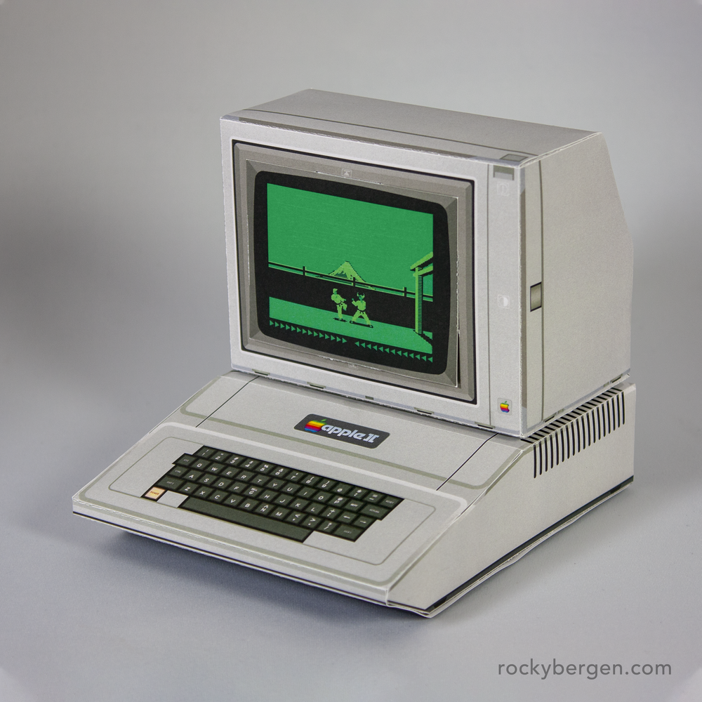 Apple Ii Papercraft Design Rocky Bergen