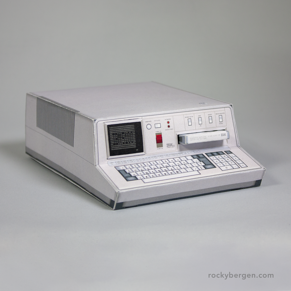"One advantage to the papercraft model version of the IBM 5100 ""Portable Computer"" is that it doesn't weigh 55 lb (25 kg)."