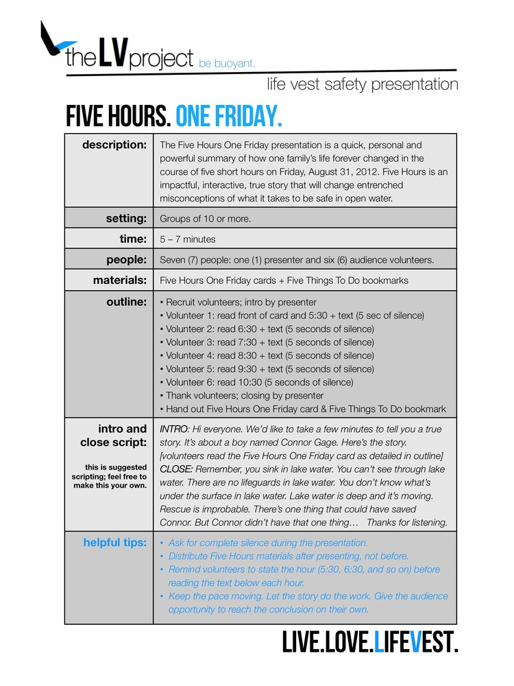 Five Hours One Friday: Curriculum — The LV Project