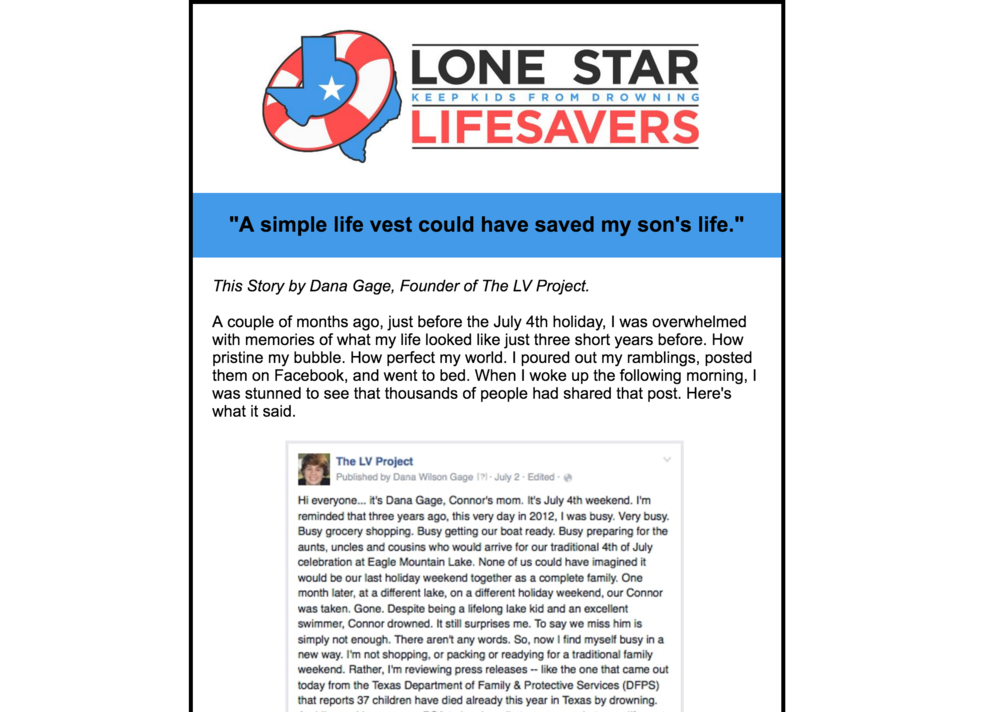 Lone Star LifeSavers Newsletter, 2015