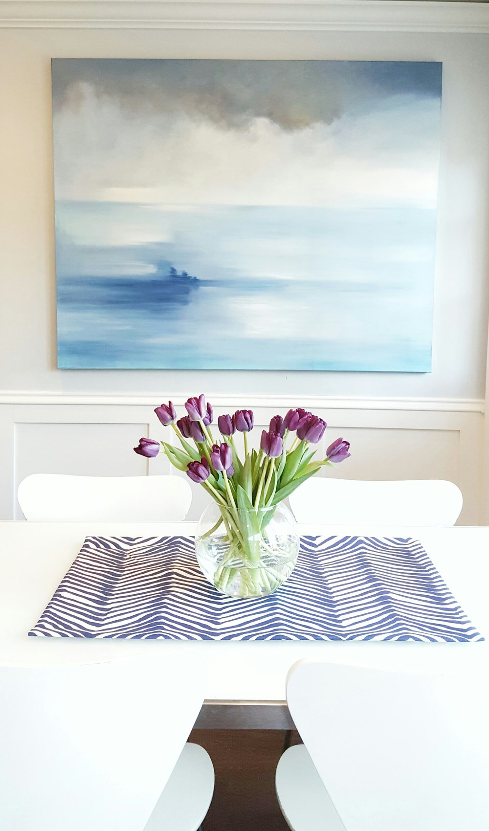 Shoreline Wall Art  in kitchen by Ash Street Interiors