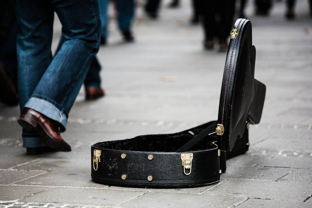 Busking could be one of many gigs for a musician. Photo via  Pixabay .