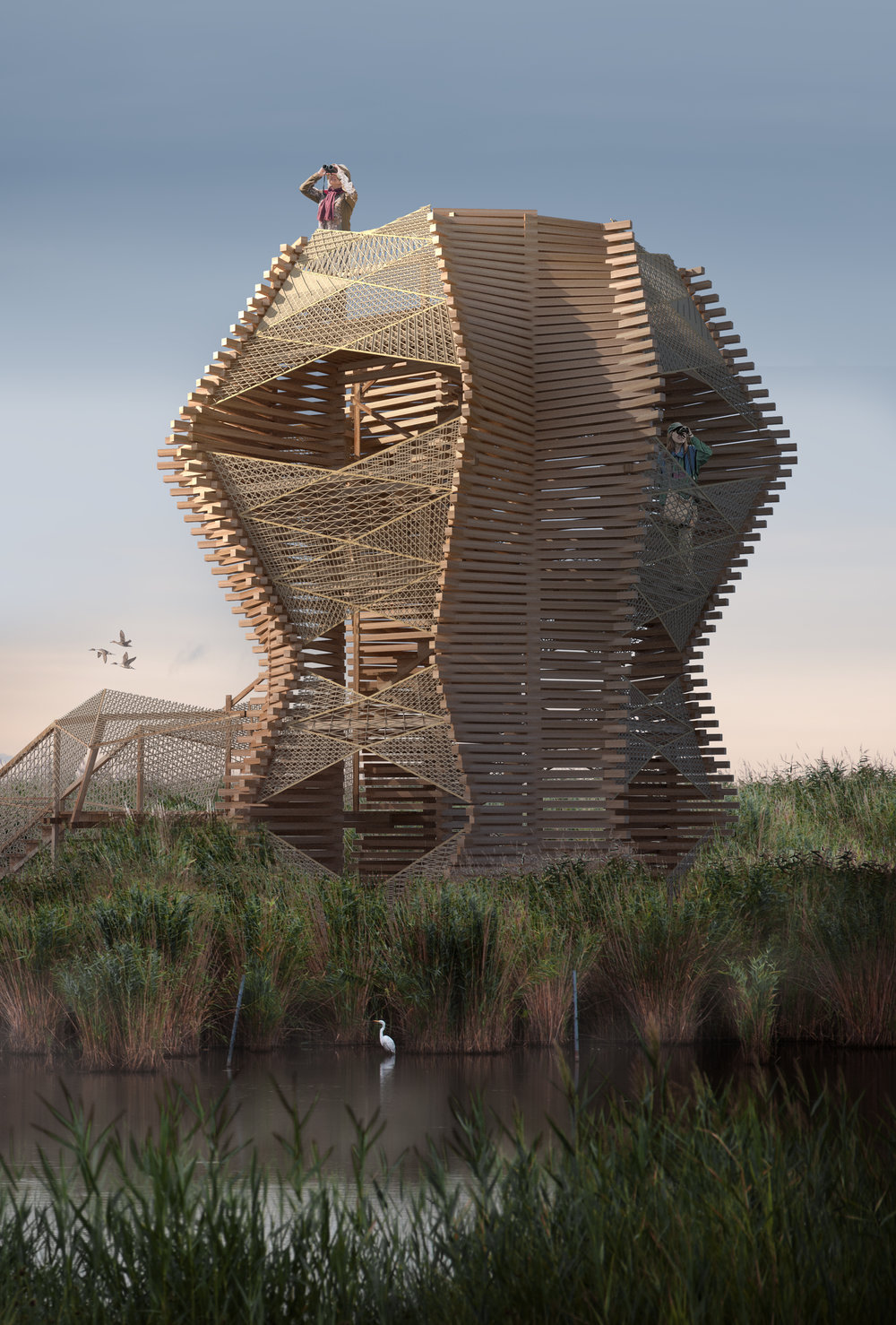 The shape and the name of the tower is inspired by the symbol of Auseklis, a Latvian folklore deity also known as the morning star, symbol of light and hope.