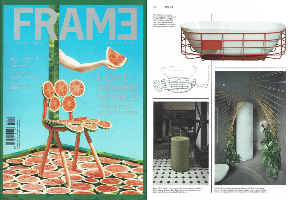 Indoor Outdoor Bathroom by Bilska de Beaupuy published in Frame magazine Issue Nr 118 September - October 2017