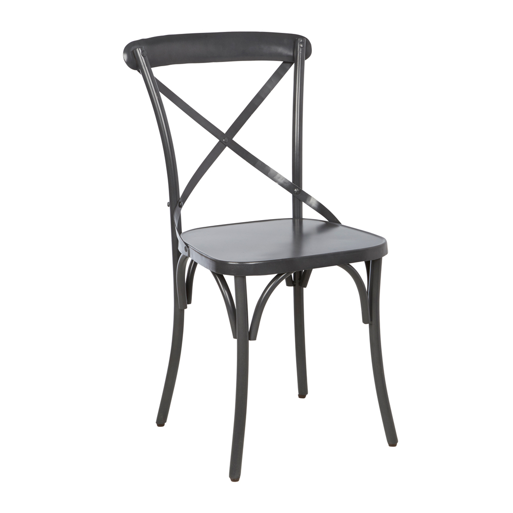STEEL X-BACK SIDE CHAIR