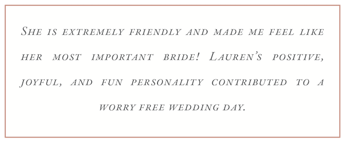 LDCWeddings Client Review