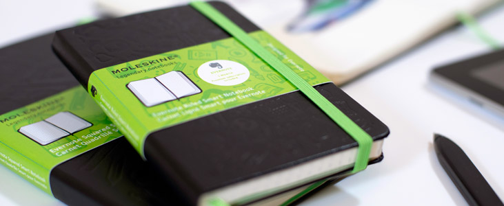 evernote moleskin journal wedding planning