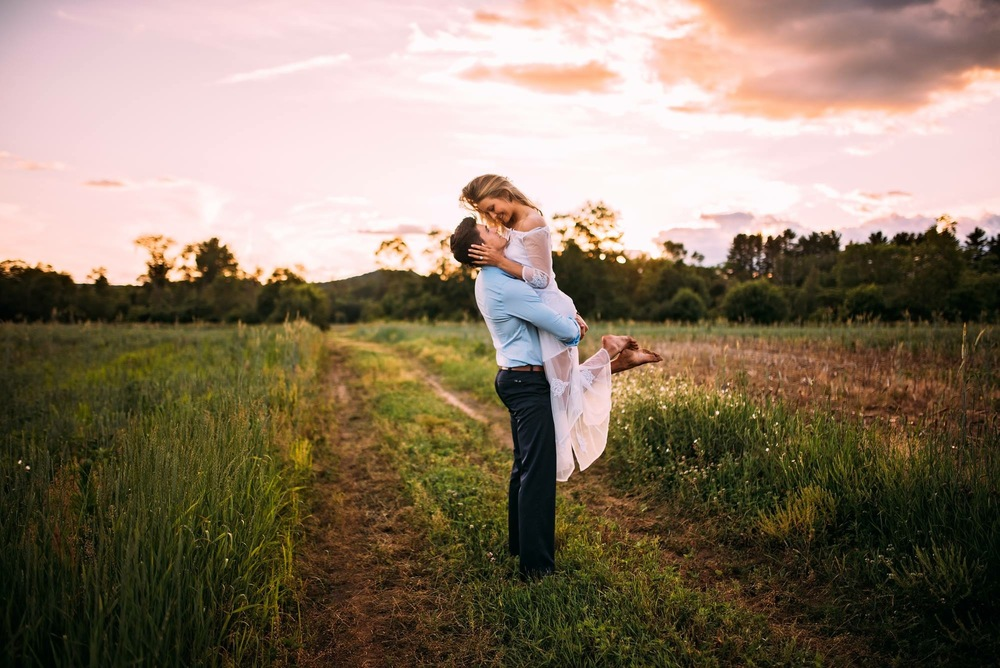 dirt road engagement sunset shoot