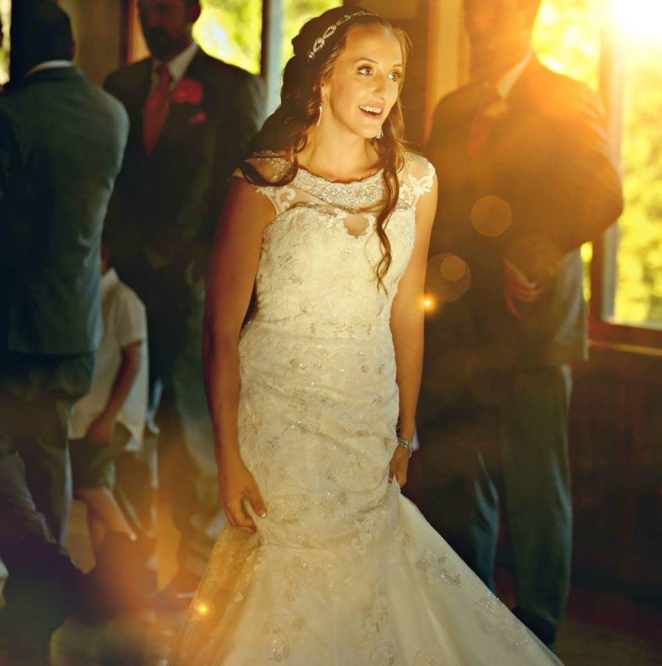sunlight through window on dancing bride