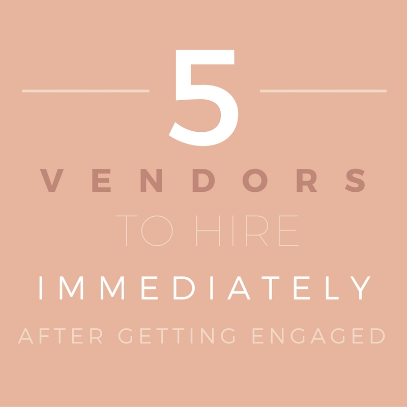 5 wedding vendors to hire after getting engaged