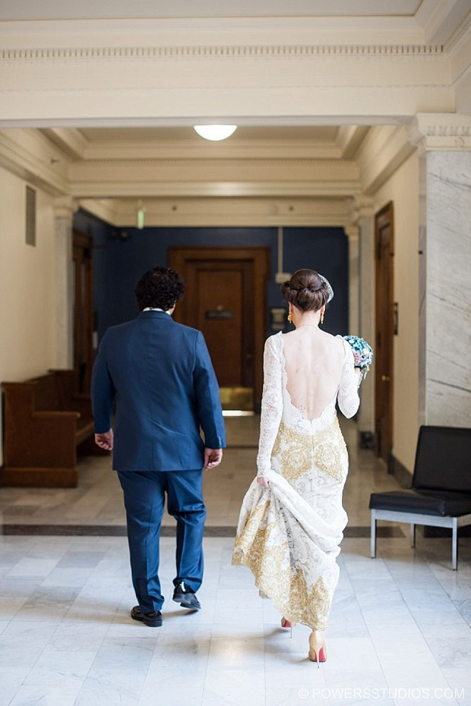 elegant courthouse wedding