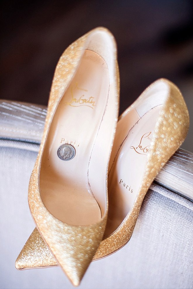 Gold Louboutins Wedding